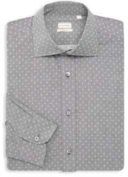Luciano Barbera Regular-Fit Polka Dot Cotton Dress Shirt