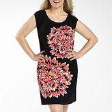 London Times Floral Print Dress - Plus