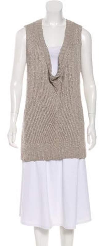 St. John Sleeveless Knit Sweater brown Sleeveless Knit Sweater