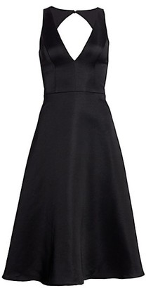 Aidan Mattox Satin Fit & Flare Dress