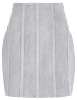 Balmain Suede Miniskirt