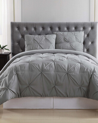 Truly Soft Pleated Grey Comforter Set