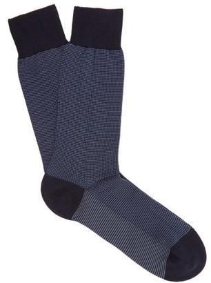 Pantherella Tewksbury Cotton-blend Socks - Mens - Navy