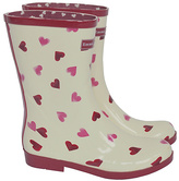 Emma Bridgewater Short Heart Wellies - Size 3
