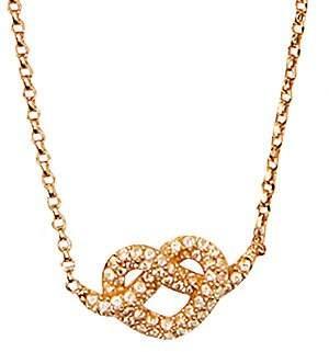 Kate Spade Women's Loves Me Knot Pavé Mini Pendant Necklace
