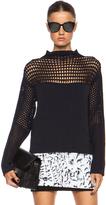 Helmut Lang Micro Grid Crop Polyamide-Blend Sweater