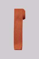 Moss Bros Orange Knitted Skinny Tie