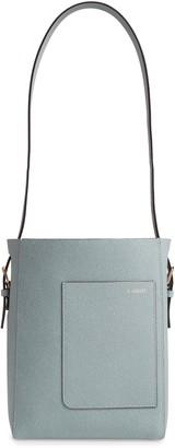 Valextra Secchiello Small Leather Hobo Bag