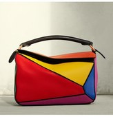 Loewe Small Puzzle Colorblock Calfskin Leather Bag - None