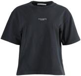 Acne Studios boxy contrasting logo t-shirt black