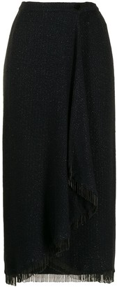Valentino Pre-Owned Beaded Fringe Hem Midi Skirt