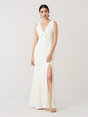 Diane von Furstenberg Kimmy Satin-Back Crepe Gown