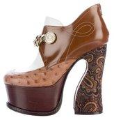 Maison Margiela 2017 Leather Platform Boots