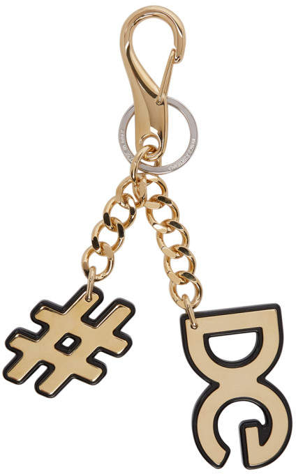 Dolce & Gabbana Gold Metal Keychain