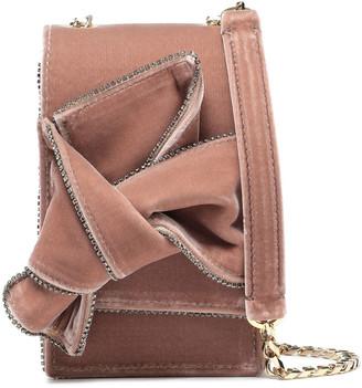 N°21 N21 Knotted Crystal-embellished Velvet Shoulder Bag