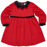 Florence Eiseman Ponte Knit Dress w/Velvet Detail, Red, Sizes 2-6
