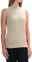 August Silk Standard Turtleneck - Sleeveless (For Women)