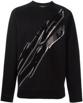 DSQUARED2 Tiger Flash sequin sweatshirt - men - Polyester/Polyurethane/Viscose - S