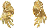 One Kings Lane Vintage Givenchy Gold Crystal Sunburst Earrings