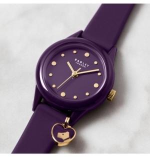 Radley London Women's Purple Silicone Strap Watch 27 mm