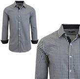 Asstd National Brand Mens Long Sleeve Checkered Dress Shirt