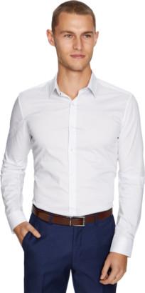 yd. White Akron Slim Fit Dress Shirt