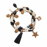 Natasha Accessories Natasha 3-pc. Bead Gold-Tone Stretch Bracelet Set