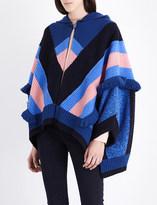 Stella McCartney Snow fringed wool cape