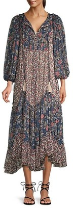 Free People Estelle Chiffon Maxi Dress