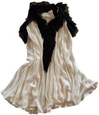 Plein Sud Jeans White Silk Dress for Women