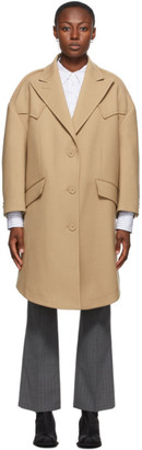 MM6 MAISON MARGIELA Beige Wool Techno Coat