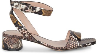 Kate Spade Maui Snakeskin-Embossed Leather Sandals