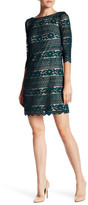 Eliza J 3/4 Length Sleeve Sheath Dress