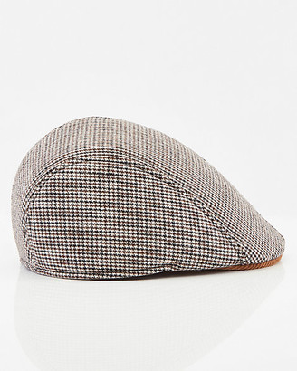 Le Château Houndstooth Print Ivy Cap