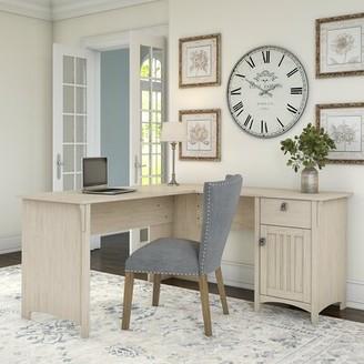 Three Posts Salina L-Shape Desk Color: Antique White