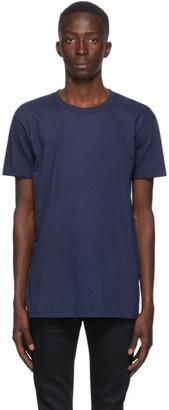 Naked and Famous Denim Navy Circular Knit T-Shirt
