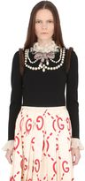 Gucci Embellished Wool Sweater W/Mink Details