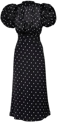 Rotate by Birger Christensen Dawn Polka Dots Viscose Dress