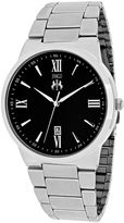 Jivago Clarity Mens Black Dial and Silver-Tone Stainless Steel Watch