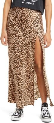 Socialite Side Slit Long Skirt