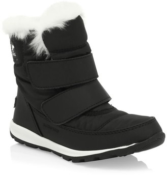 Sorel Kid's Whitney Waterproof Faux Fur-Cuff Boots