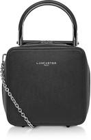 Lancaster Paris Bonnie Caviar Leather Squared Satchel Bag