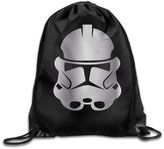 WBADLCW Star Wars Clone Trooper Platinum Style Drawstring Backpack Bag