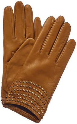 Portolano Golden Sunflower Cashmere-Lined Leather Gloves