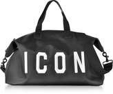 DSQUARED2 Icon Black Techno Fabric Men's Duffle Bag