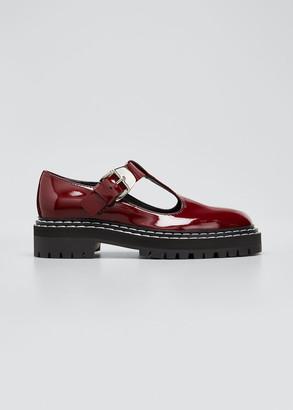 Proenza Schouler Leather Mary Jane Buckle Loafers