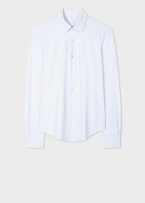 Paul Smith Men's Super Slim-Fit White 'Geo' Print Shirt