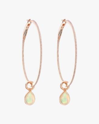 Nina Runsdorf Medium Opal Flip Hoop Earrings