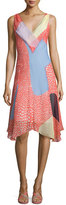 Diane von Furstenberg Dita Sleeveless Silk Patchwork Dress