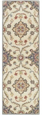 """Solano Charlton Home Traditional Floral Hand-Tufted Wool Rust/Denim Area Rug Charlton Home Rug Size: Runner 2'6"""" x 8'"""